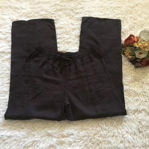 Ellen Tracy 100% Linen Pants Size L